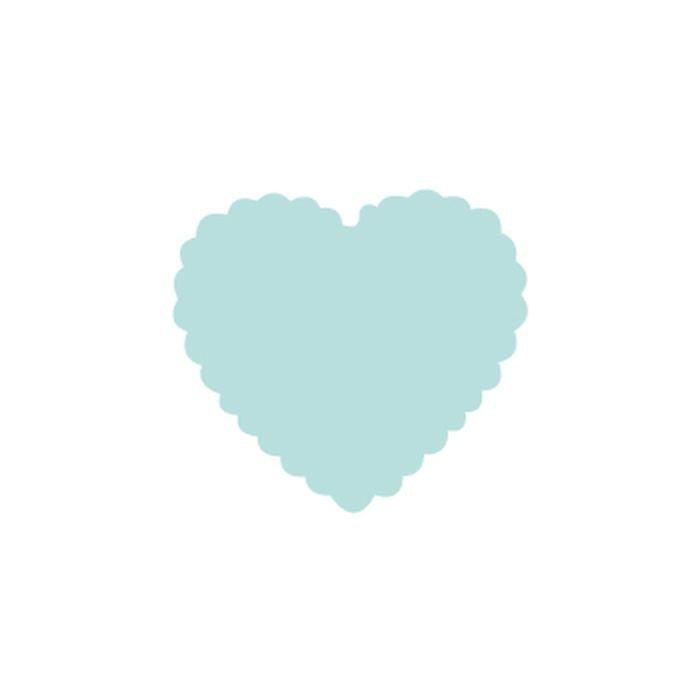Dekorační děrovačka 1,6cm – srdce s volánky