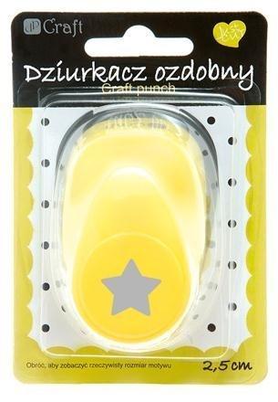 Dekorační děrovačka 2,5 cm – hvězda