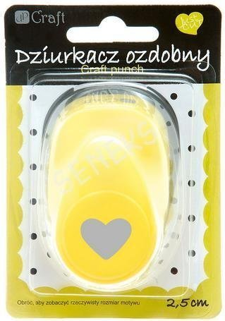 Dekorační děrovačka 2,5cm – srdce
