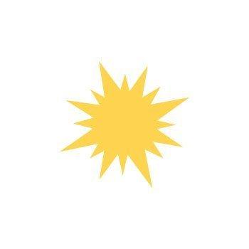 Dekorační děrovačka 2,5cm – slunce 2
