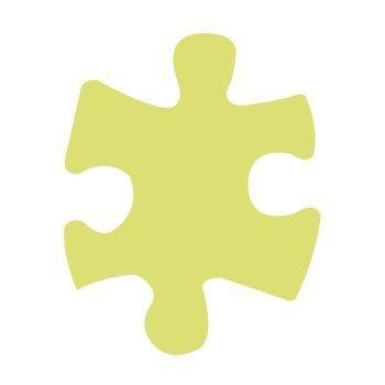 Dekorační děrovačka 7,5 cm – puzzle