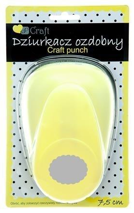Dekorační děrovačka 7,5cm – krajková elipsa