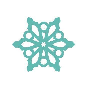 Dekorační děrovačka ažurová 3,7 cm – sněhová vločka