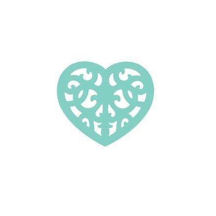 Dekorační děrovačka ažurová 3,7 cm – srdce