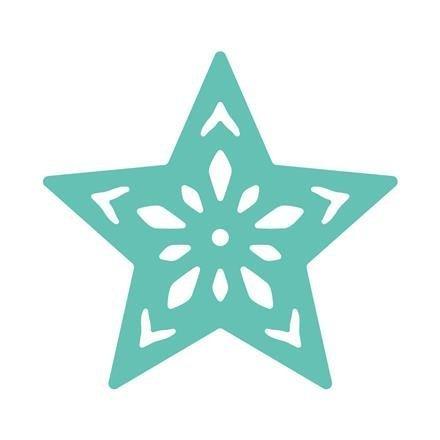 Dekorační děrovačka ažurová 3,7 cm – hvězda