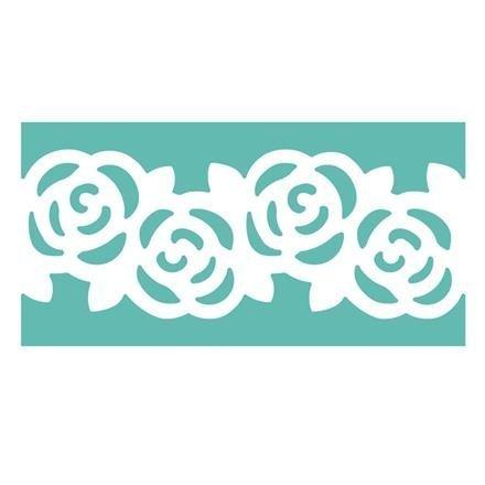 Dekorační děrovačka lemovací multifunkční 5 cm – růže