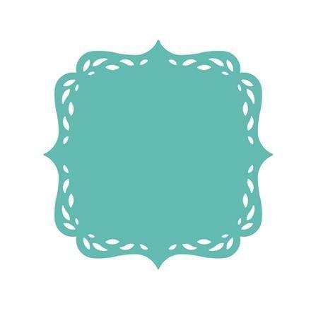 Dekorační děrovačka ubrousková – štítek