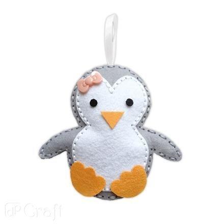 Kreativní sada z filcu – ozdoby na stromeček – tučňák