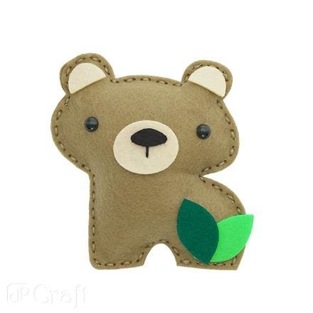 Kreativní sada z filcu – medvídek