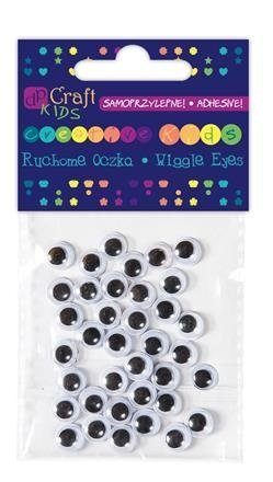 Samolepicí pohyblivé oči, 8 mm, 36 ks