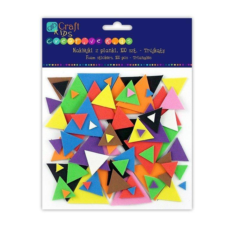 Pěnové samolepky – trojúhelníky 100ks