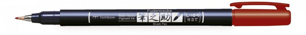 Fudenosuke BRUSH PEN – WS-BH – tvrdost 1, červený
