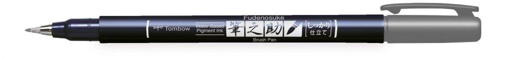 Fudenosuke BRUSH PEN – WS-BH – tvrdost 1, šedý