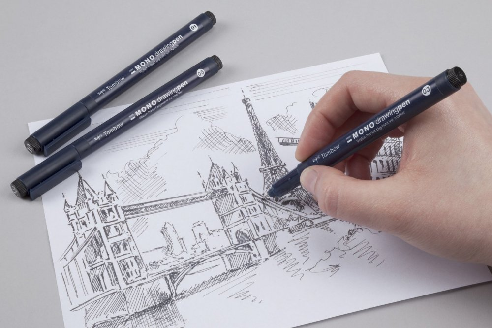 Fineliner MONO drawing pen, 3 ks