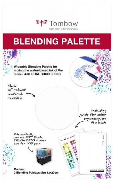 Tombow Paleta na míchání barev, 3 ks