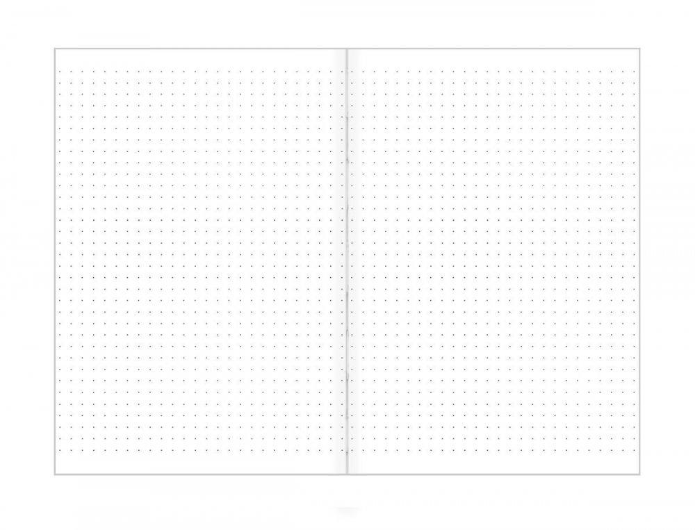 Tečkovaný zápisník, peří, 195 x 135 mm