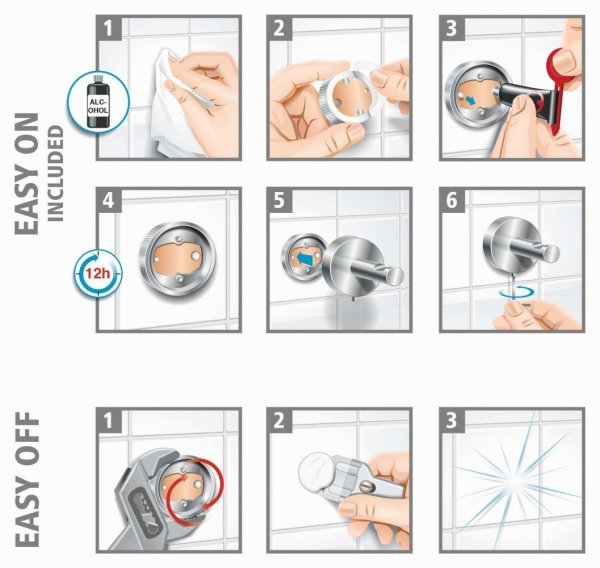 Ekkro Drátěná polička na mýdlo 50mm x 118mm x 135mm