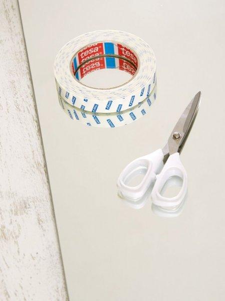 Montážní oboustranná pěnová páska na zrcadla, bílá, 5m x 19mm