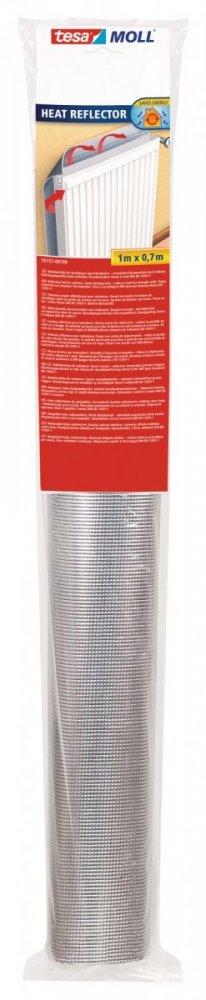 Odrazová fólie za radiátor, stříbrná, 1m x 0,7m