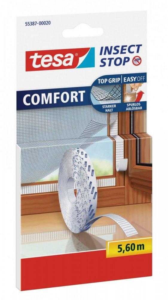 Náhradní páska suchého zipu na sítě do oken a dveří, bílá, 5,6m