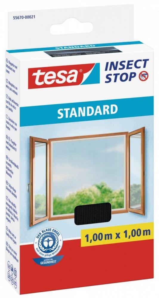 Síť proti hmyzu STANDARD, na okno, antracitová, 1m x 1m