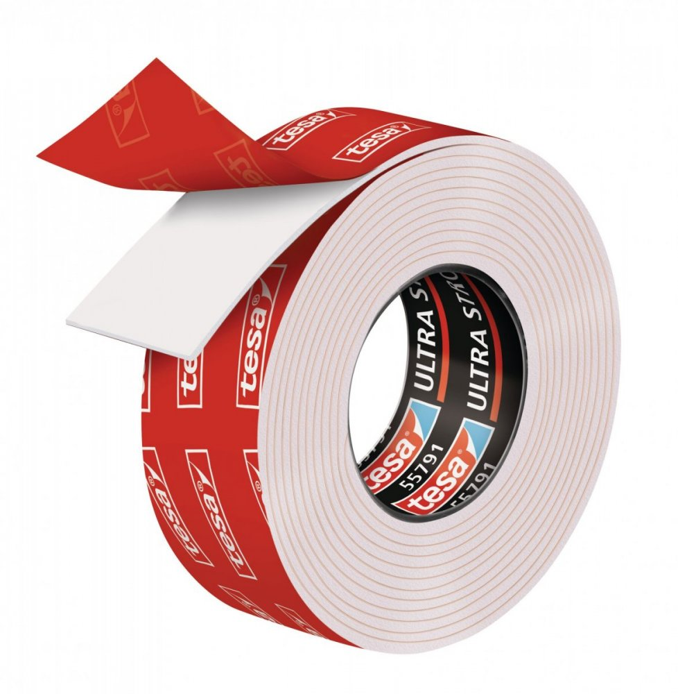 Ultra Strong, oboustranná montážní páska, bílá, 1,5m x 19mm