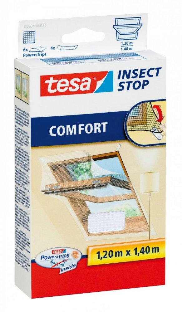 Síť proti hmyzu do střešního okna COMFORT, bílá, 1,2m x 1,4m