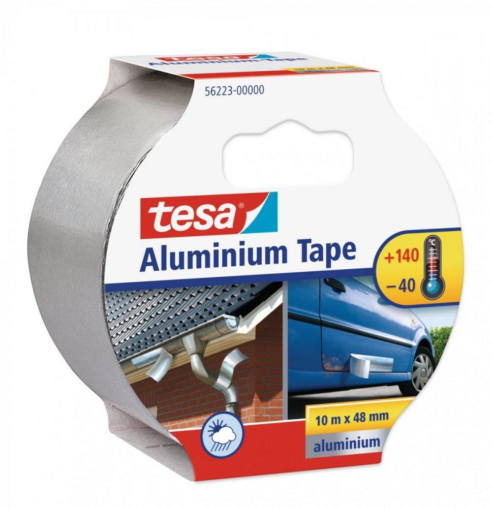 Hliníková páska, tloušťka 50 mikronů, stříbrná, 10m x 50mm