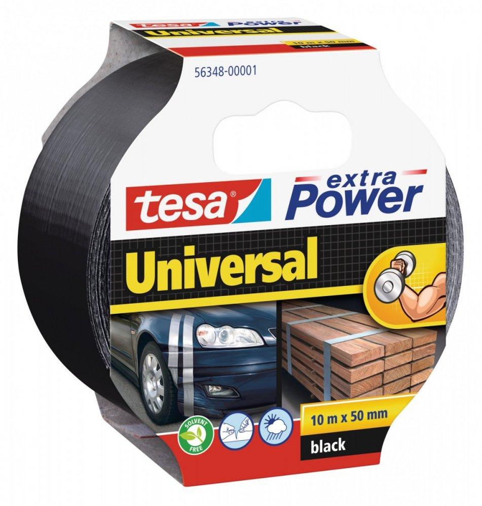 Opravná páska Extra Power Universal, textilní, silně lepivá, černá, 10m x 55mm