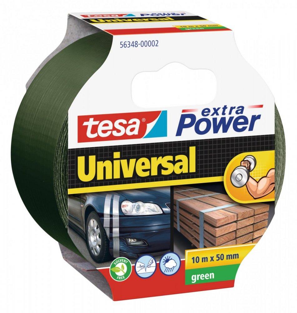 Opravná páska Extra Power Universal, textilní, silně lepivá, zelená, 10m x 55mm