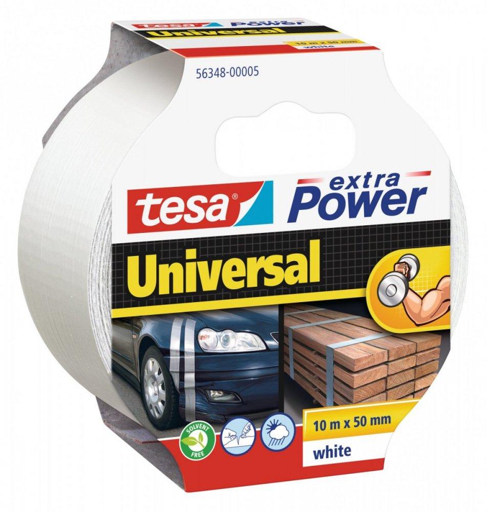 Opravná páska Extra Power Universal, textilní, silně lepivá, bílá, 10m x 55mm
