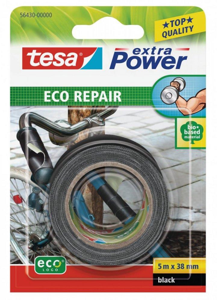 Univerzální opravná páska ECO repair, textilní, černá, 5m x 38mm
