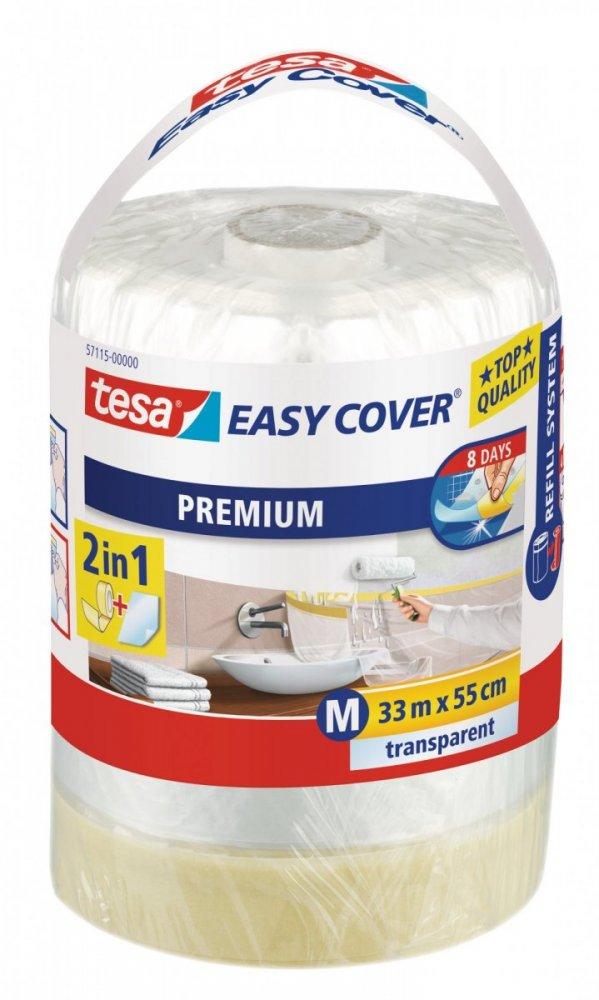 Easy Cover, kombinace fólie a malířské pásky, náplň, průhledná, 33m x 0,55m