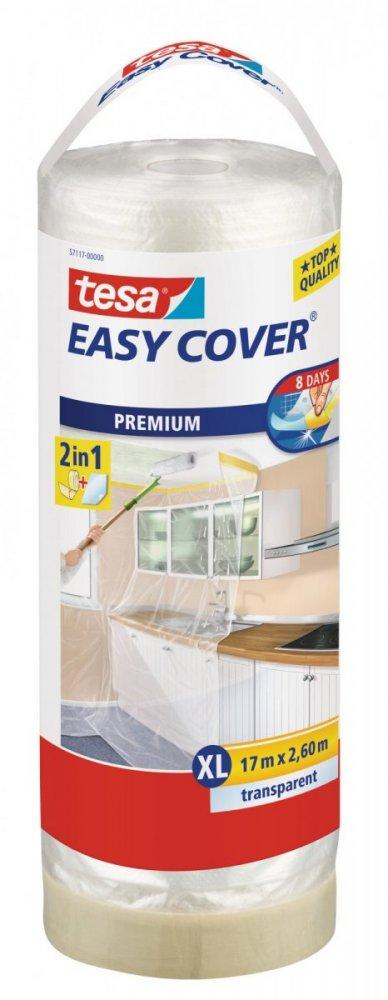 Easy Cover, kombinace fólie a malířské pásky, náplň, průhledná, 17m x 2,6m
