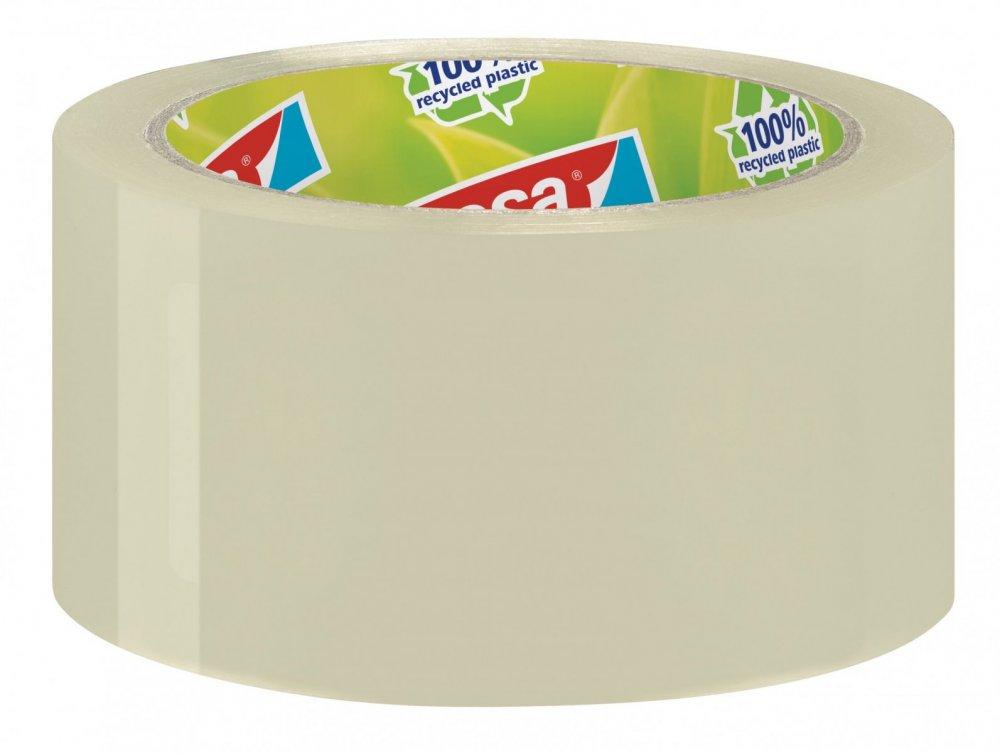 Balicí ekologická páska ECO&STRONG, odolná, silně lepivá, průhledná, 66m x 50mm
