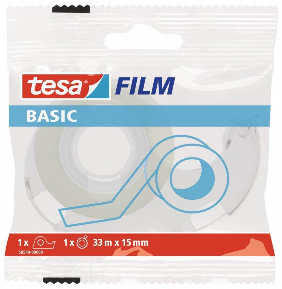 BASIC kancelářská průhledná páska, 33m x 15mm