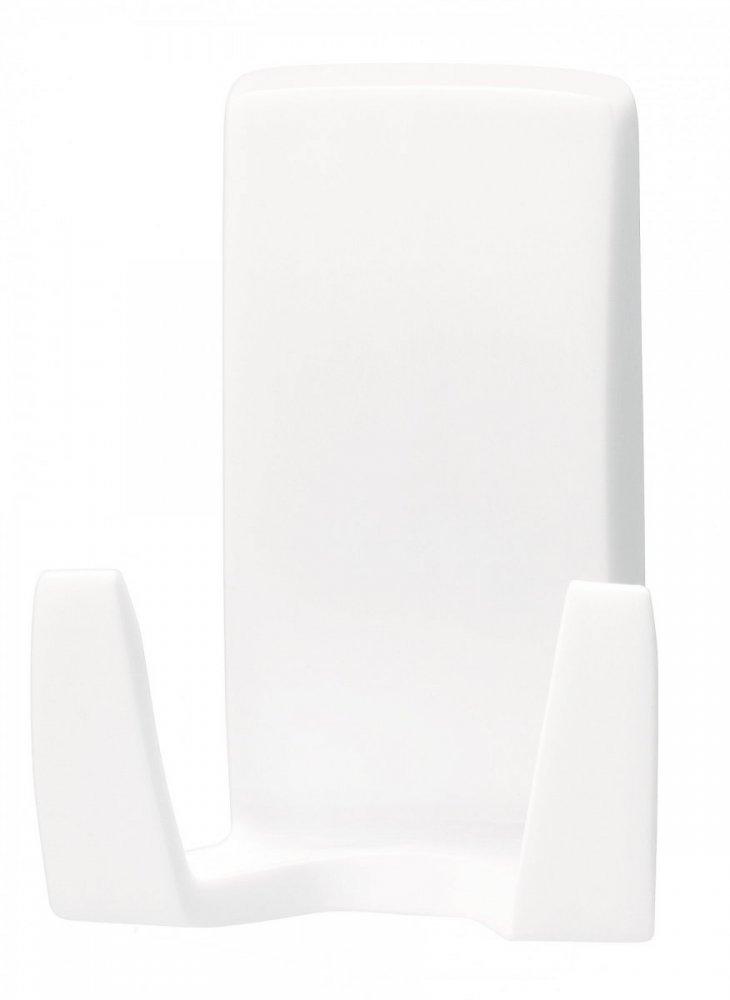Waterproof Háčky, voděodolný, na holicí strojek, bílý plast, nosnost 2kg, v balení 1ks