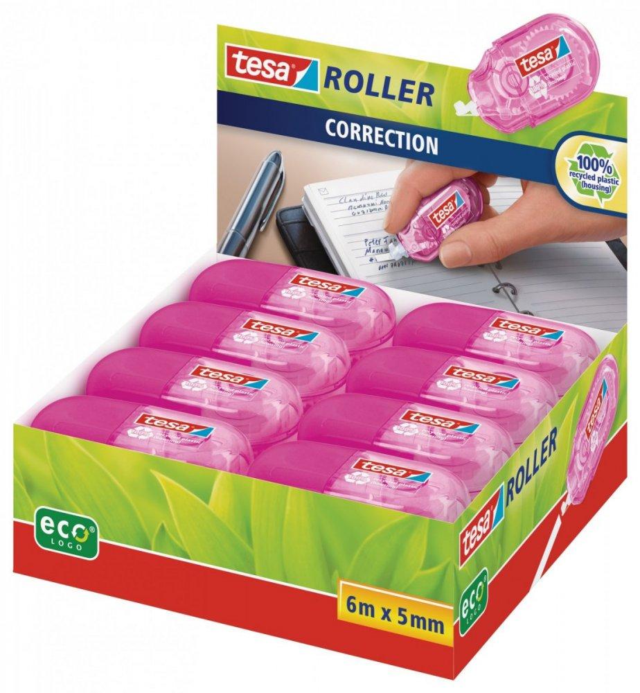 Roller Mini, Opravný korekční strojek, růžový, jednorázový, 6m x 5mm