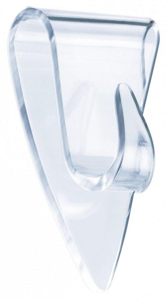 Samolepicí průhledný dekorační háček na sklo 0.2kg