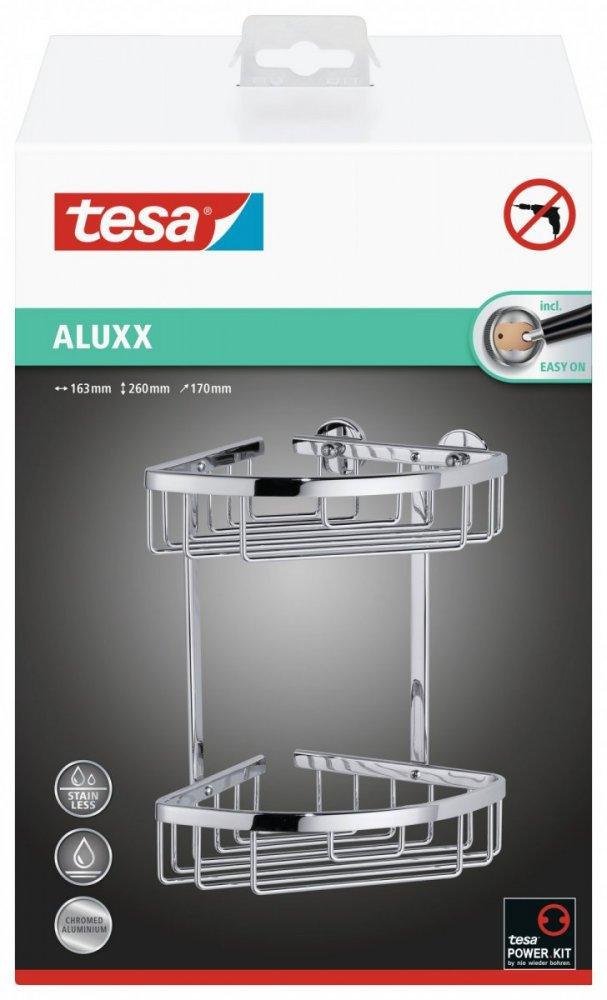 Aluxx Rohový košík dvoupatrový 260mm x 163mm x 170mm
