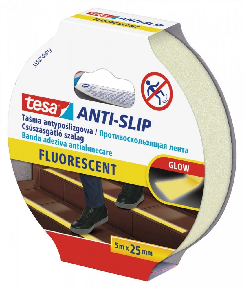 Protiskluzová samolepicí páska, fluorescentní, 5m x 25mm