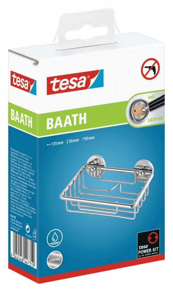 Baath Drátěná polička na mýdlo 50mm x 135mm x 95mm
