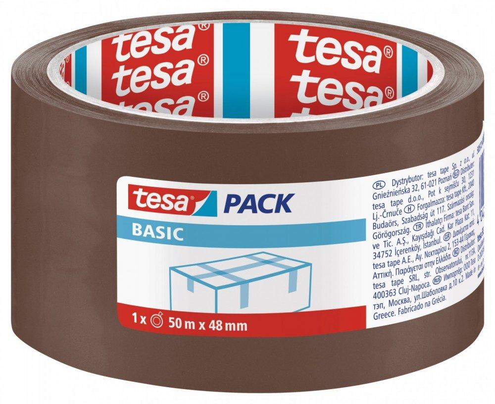 Balicí páska BASIC, základní, hnědá, 50m x 48mm