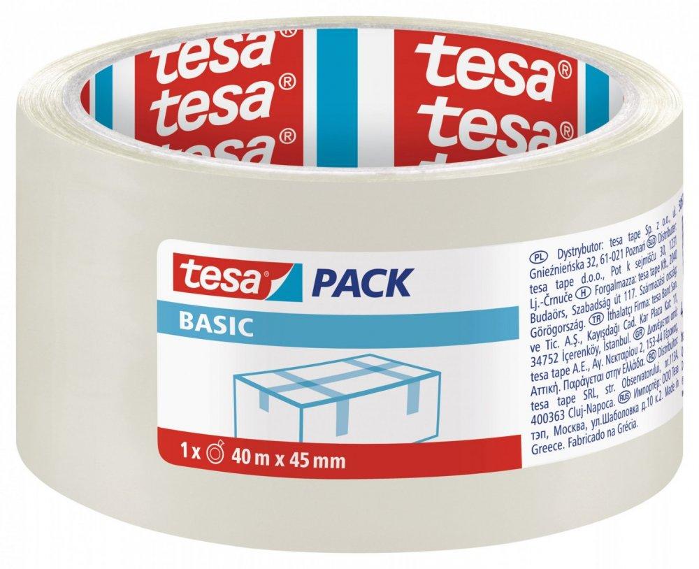 Balicí páska BASIC, základní, transparentní, 40m x 45mm