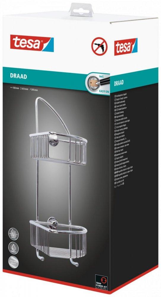 Draad Rohový košík dvoupatrový 425mm x 180mm x 205mm