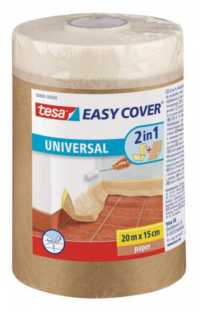 Easy Cover, kombinace zakrývacího papíru a malířské pásky, náplň, světle hnědá, 20m x 1,5m