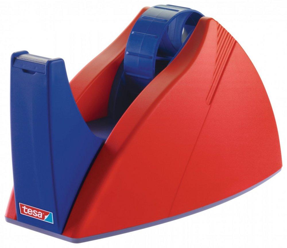 Easy Cut® Stolní odvíječ pásky, těžký, červeno-modrý, pro role do 66m x 25mm