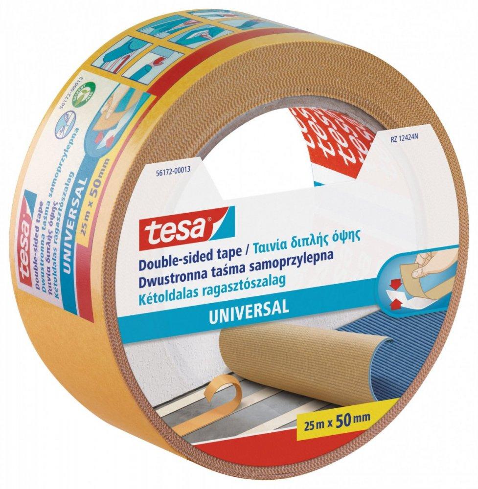 Oboustranná kobercová páska Standard, bílá, 25m x 50mm