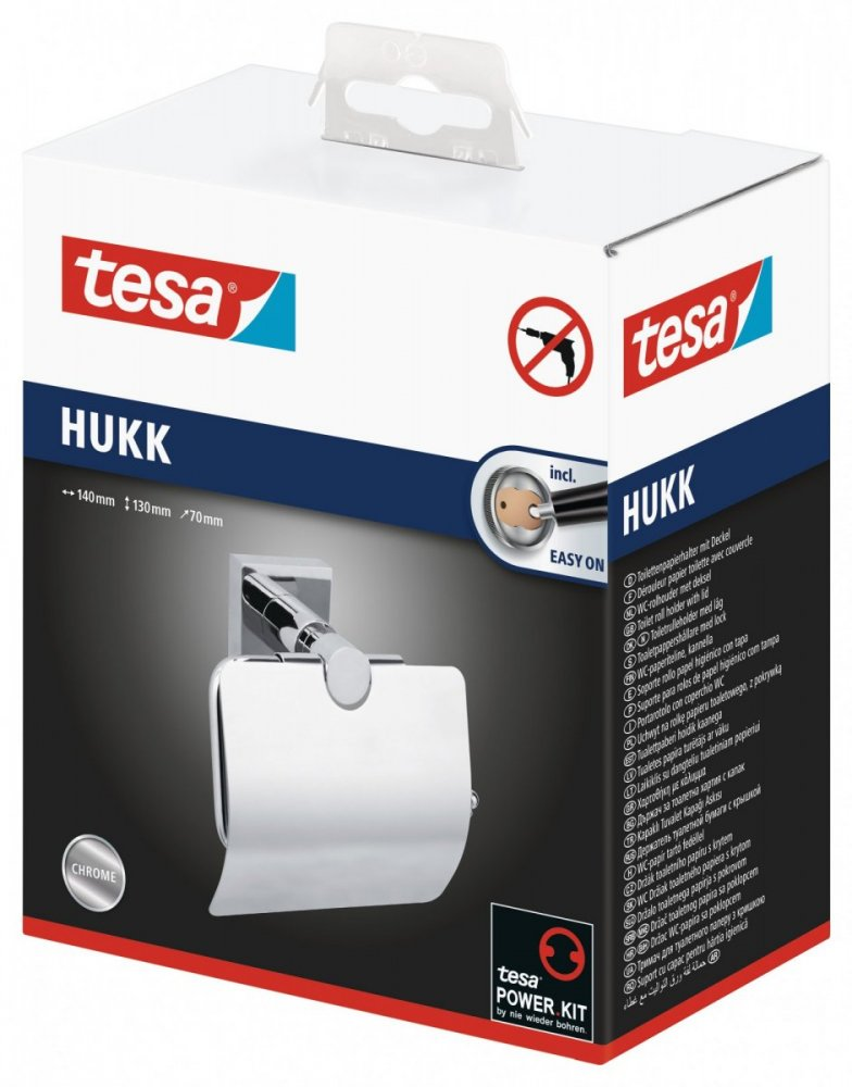 Hukk Držák toaletního papíru s krytem 130mm x 70mm x 140mm