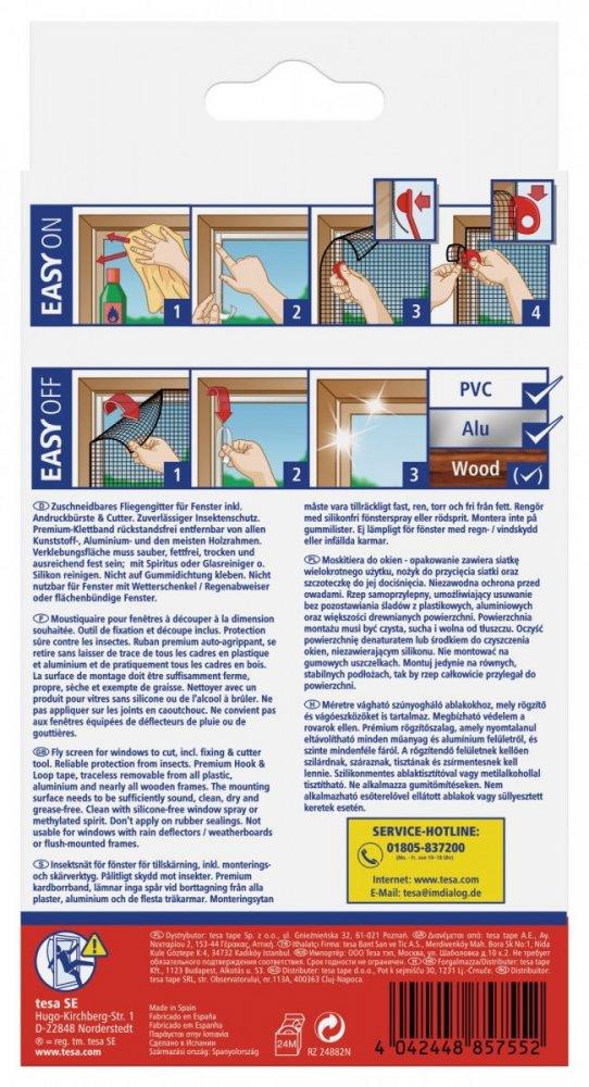 Poškozený obal - Síť proti hmyzu COMFORT, na okno, antracitová, 1,3m x 1,5m